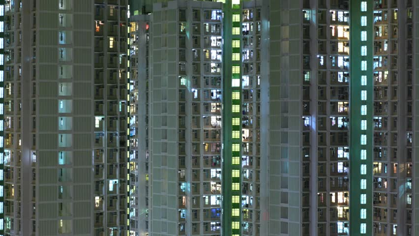 Timelapse of Hong Kong residential building at night  | Shutterstock HD Video #31718815