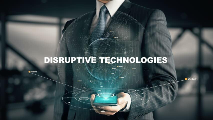 Businessman with Disruptive Technologies | Shutterstock HD Video #31786576