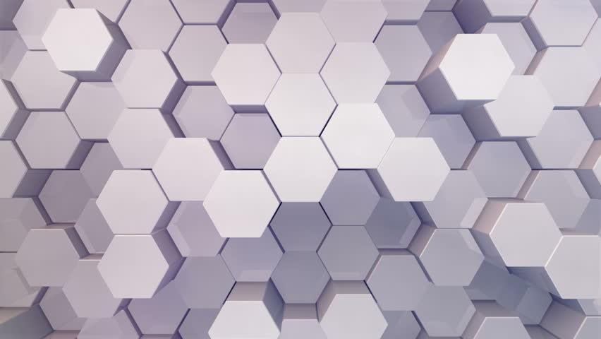 Geometric Hexagon Block Wall moving background.   Shutterstock HD Video #31787536