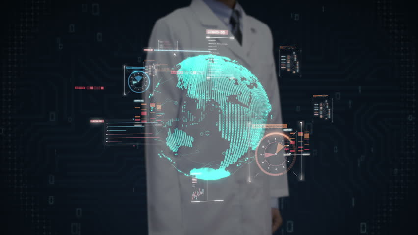 Scientist, engineer touching Digital signal, makes World map, Rounded digital earth, Global network connection,international technology. | Shutterstock HD Video #31829497
