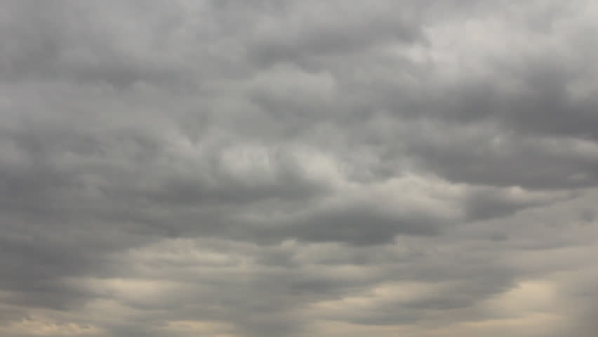 Stock Video Clip of Change overcast sky time-lapse ...
