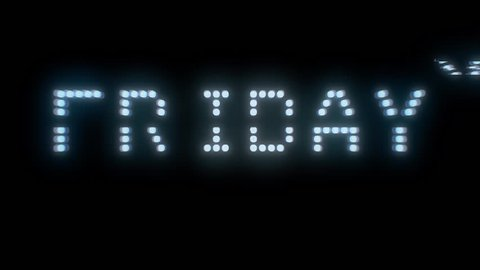 The words Black Friday sale, are you ready?, appearing with digital noise and glitches. Dot matrix font.