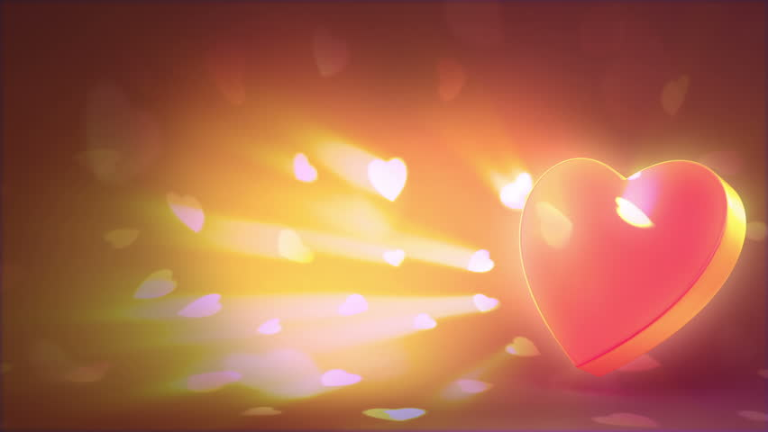 Valentine's day background, beautiful 3d animation, loop-able