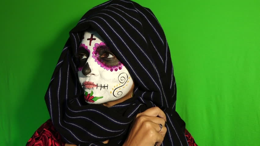 Mexican Day of the Dead Sugar Skull Face Painting