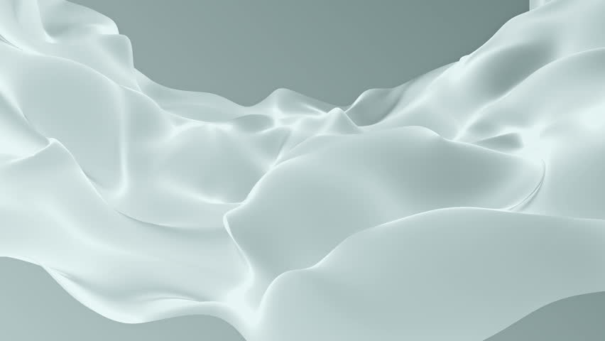 Abstract background waving with silk surface to the wind. Clear backdrop of ripple fabric. Beautiful abstraction of glowing cloth. Animation of seamless loop. | Shutterstock HD Video #32010466