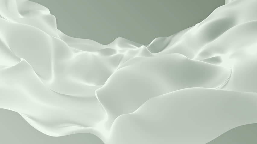 Abstract background waving with silk surface to the wind. Clear backdrop of ripple fabric. Beautiful abstraction of glowing cloth. Animation of seamless loop. | Shutterstock HD Video #32010586