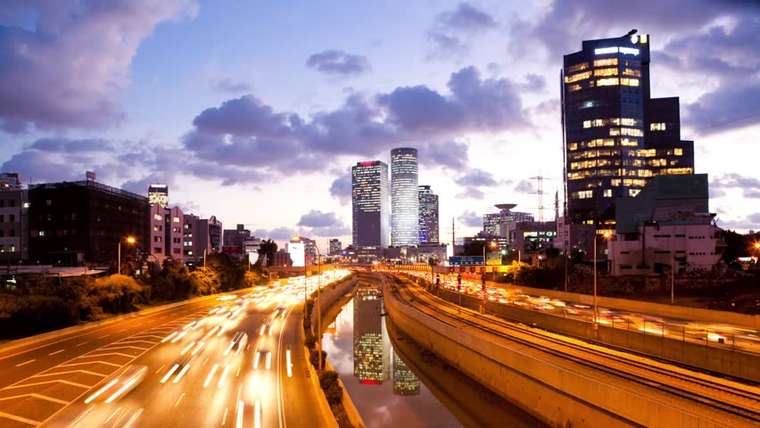 Traffic Time Lapse - Ayalon Freeway | Shutterstock HD Video #3203596
