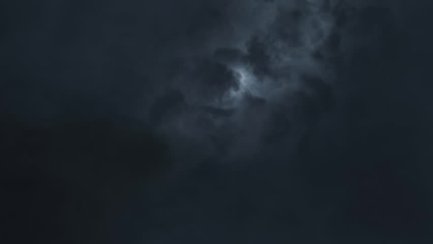 Thunderstorm sky clouds at night with lightning realistic animation Timelapse - new quality unique nature view video footage | Shutterstock HD Video #32057416