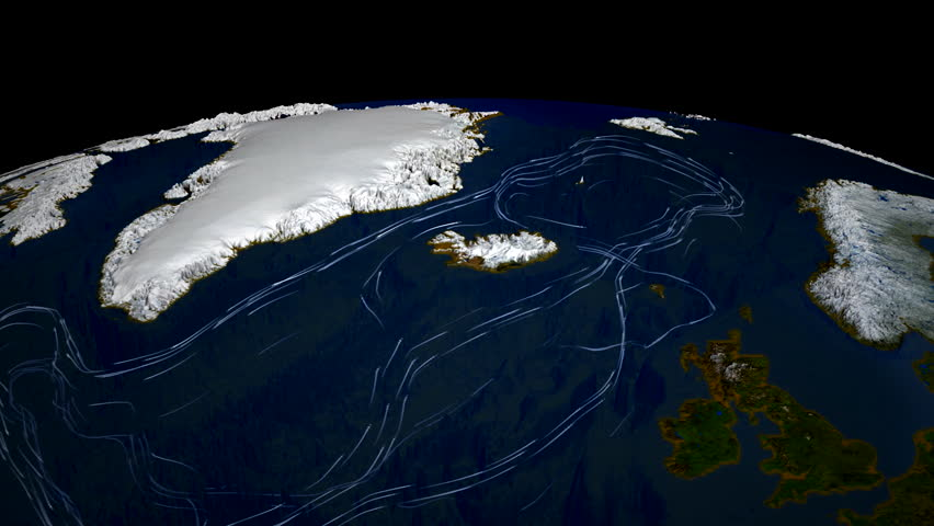 Main ocean currents of the World Ocean. Animation of currents of the World Ocean. Elements of this image furnished by NASA