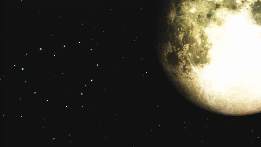 Romantic stars twinkle in the night sky, a shooting star (meteoric shower) fly through starry heart. | Shutterstock HD Video #3208636