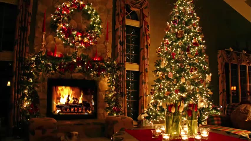 gorgeous cosy domestic romantic lovely atmosphere festive christmas tree new year eve noel fireplace light interior - Room Christmas Lights