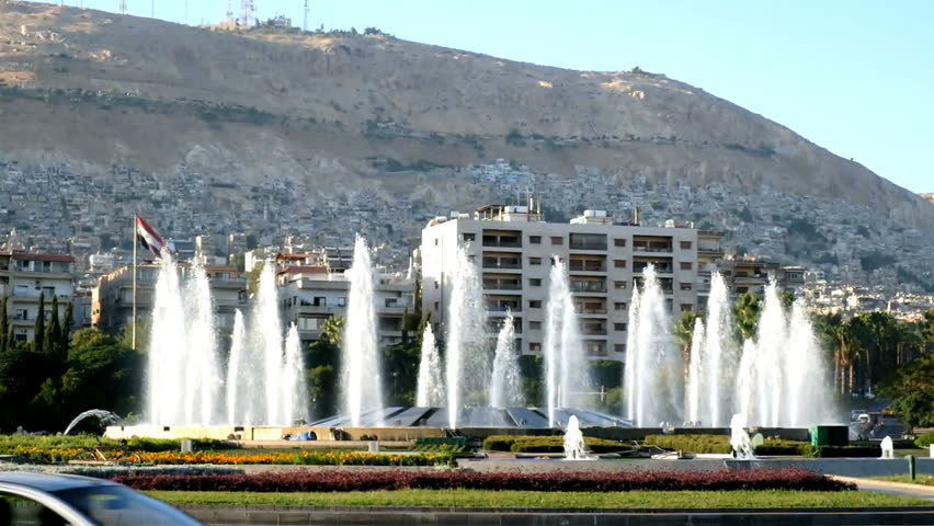 Damascus Syria September 2013 Traffic Stock Footage Video 100