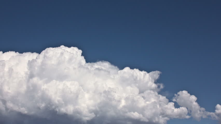 HD - 30p Cumulus Clouds fast timelapse with intense blue sky
