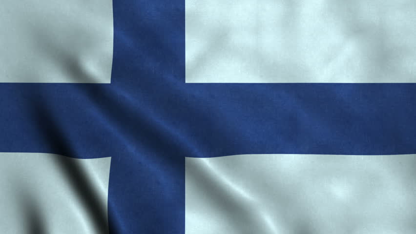4K Seamless Loopable Flag of Finland