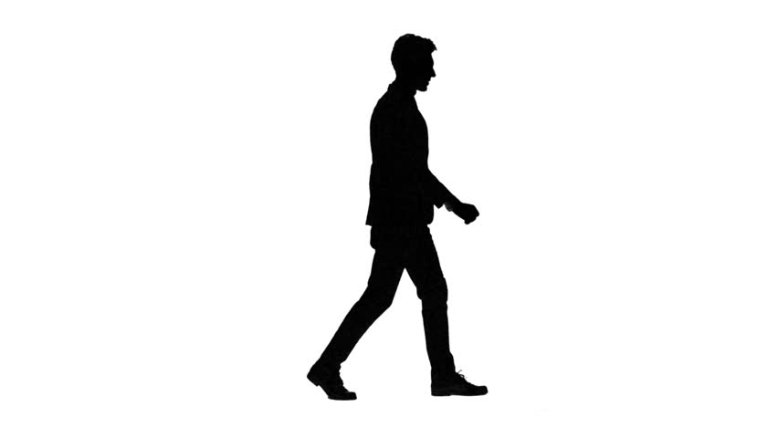 Businessman Walking With His Briefcase , Man Walking With ...