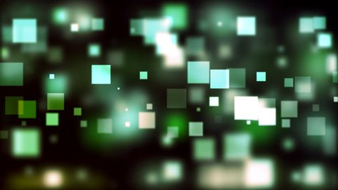 Green and blue squared blocks floating in the air - HD motion background video