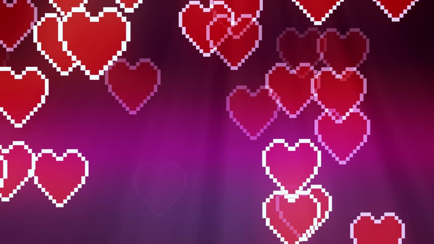 Many pixel heart icon random diffuse moving animation background - New unique quality universal motion dynamic colorful joyful dance music holiday video footage | Shutterstock HD Video #32206390