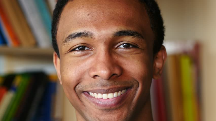 Smiling Face of Young Afro-American Man | Shutterstock HD Video #32217766