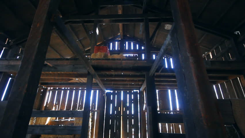 Rustic barn with spaced slats letting the daylight in