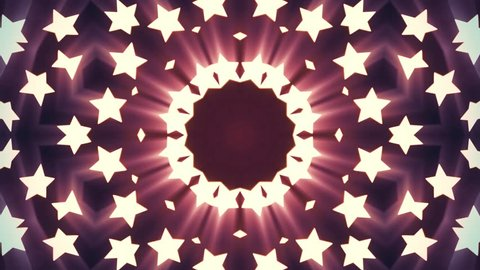 ornamental geometric kaleidoscope stars moving pattern animation seamless loop New quality retro vintage holiday shape colorful universal motion dynamic animated joyful dance music video footage