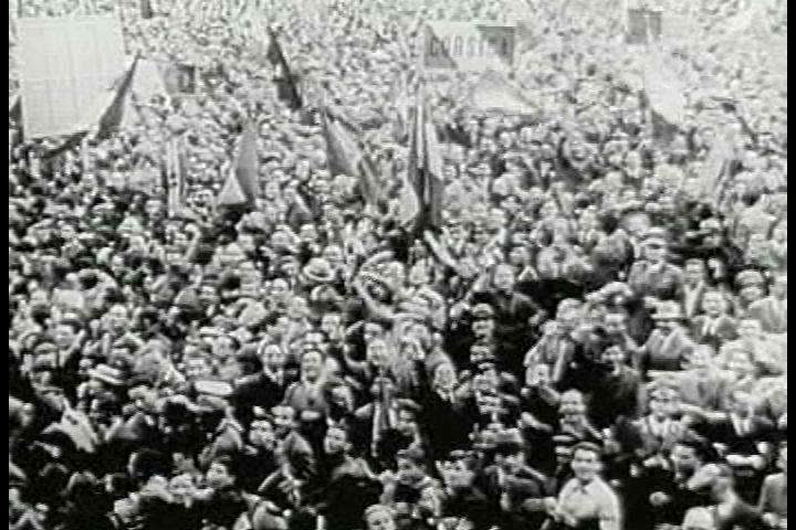 CIRCA 1940s - Upon Mussolini entering the war on June 10, 1940, German forces quickly overtake Paris during World War II, a huge boon for the German army, as they achieve a massive conquest