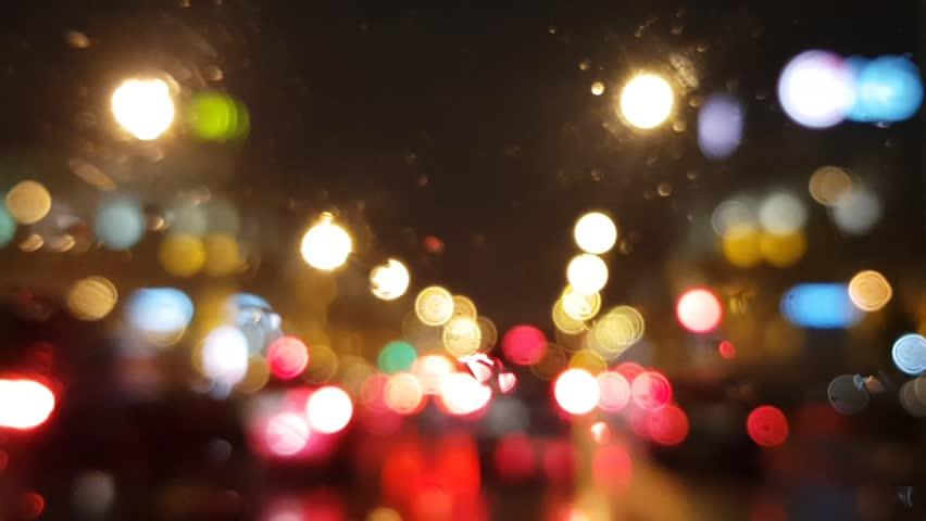 Orange Street Light Rain Footage Page 3 Stock Clips