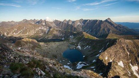 Time lapse of Mountain landcape  at summer in Poland Tatras near Zakopane