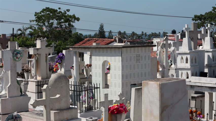 Mexico Cemetery Puerto Vallarta Above Stock Footage Video 100 Royalty-Free 3233746 -2620