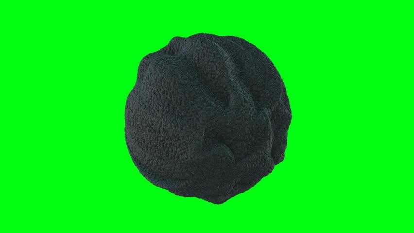 Abstract Black Sponge Organic Sphere Object Virus grean screan