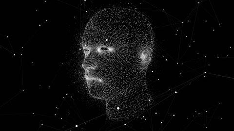 Virtual Human Head. 3D Motion Graphics