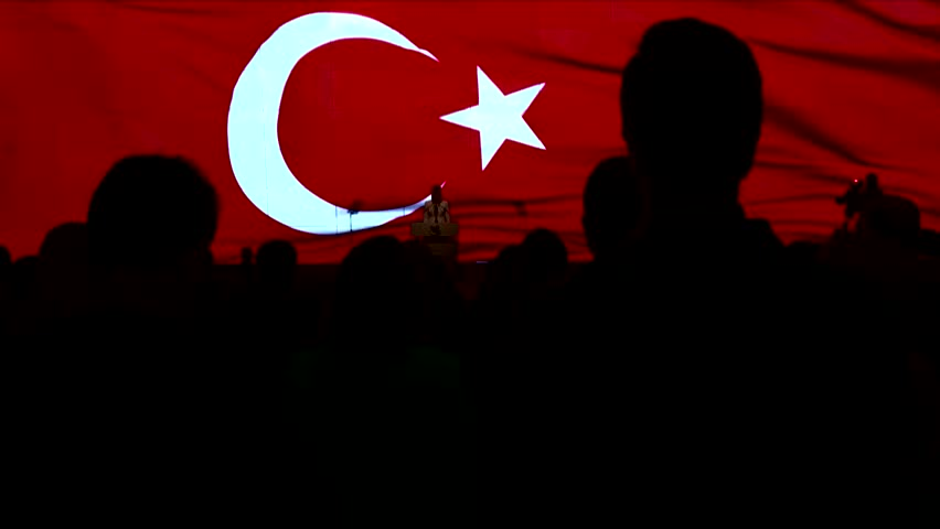 """""""Flag of Turkey and Turkish flag waving in the sky"""""""