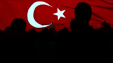 """Flag of Turkey and Turkish flag waving in the sky"""