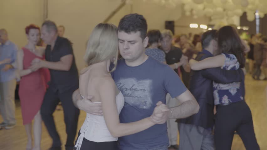 KYIV, UKRAINE - SEPTEMBER 22, 2017. Milonga (tango). People dancers dance | Shutterstock HD Video #32466166