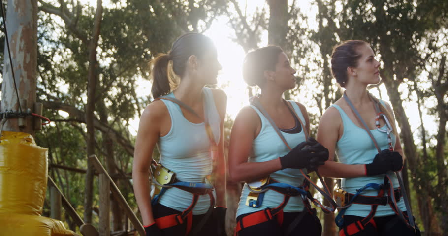 Trainer instructing group of woman in the forest 4k | Shutterstock HD Video #32478586