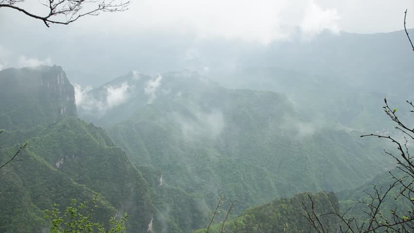 China, Tianmen Fairy Mountain, View from the mountain | Shutterstock HD Video #32485846