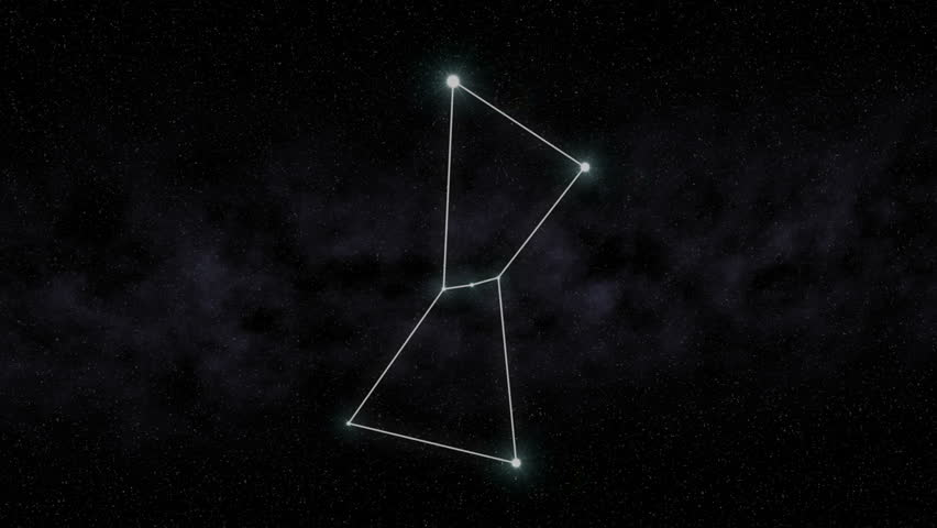 The constellation Orion is outlined.