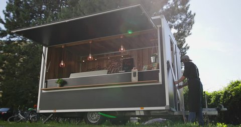 Food Truck owner opening for business