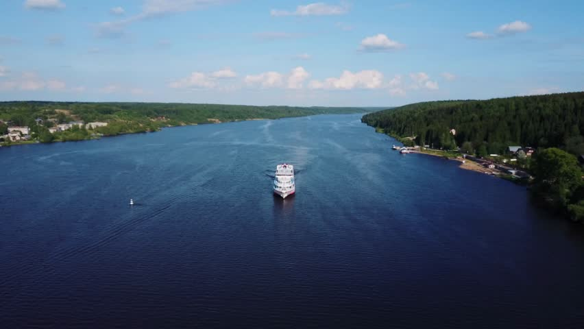 Ship On The Volga River Stock Footage Video Shutterstock - The volga river