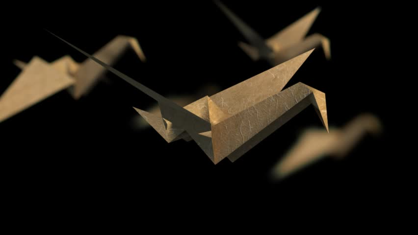 Animated Origami Cranes Royalty Free Stock Video 3934940 Shutterstock