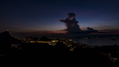 Night to Day Timelapse from Vista Chinesa, Rio de Janeiro, Brazil