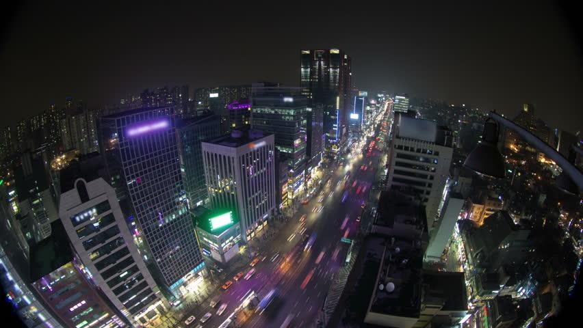 Seoul City 135) Time lapse of traffic in Seoul Korea. | Shutterstock HD Video #3259216