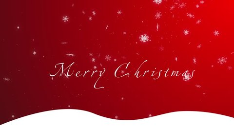 Merry Christmas, red background