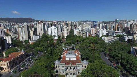 Aerial view of Belo Horizonte Minas Gerais, Freedom Square towards Savassi.