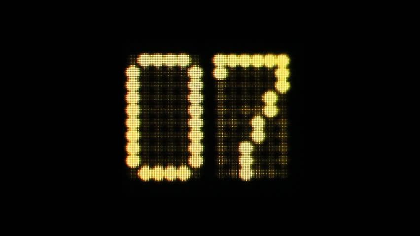 Digital 10 Second Countdown