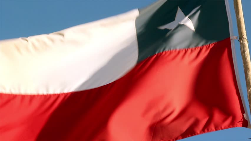 Chile Flag. Close-up.