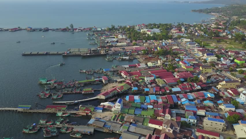 Aerial Fishermen Jetties and Harbour,sihanoukville,cambodia Stock Footage  Video (100% Royalty-free) 32780206 | Shutterstock