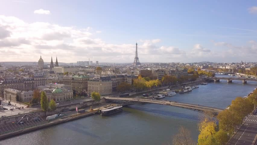 Cityscape of Paris. Aerial view of city center | Shutterstock HD Video #32785771