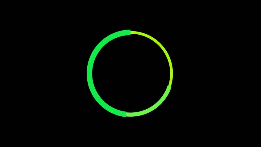 loading circle preloader rotating interface alpha channel render animation