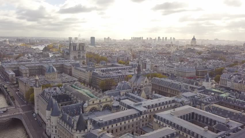 Flying above roofs of Paris | Shutterstock HD Video #32800951