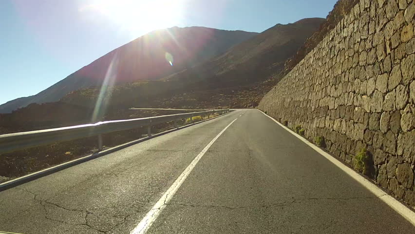 Stock Video Of Driving In Volcano Landscape On Tenerife